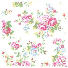 Spray Flowers Haberdashery Cath Kidston Wallpaper
