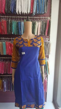 Kurtis have become a very integral outfit it Indian fashion industry. From parties to casual wear for your work everyday, kurtis have become a big fashion Kurta Patterns, Designer Blouse Patterns, Blouse Designs, Designer Dresses, Dress Designs, African Wear, Indian Wear, Churidar Designs, Neck Designs For Suits