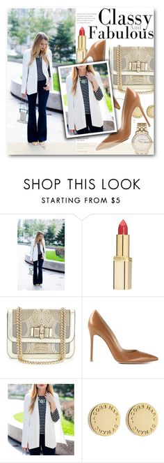Classy and fabulous by stylemoi-offical on Polyvore featuring moda, Gianvito Rossi, Christian Louboutin, Marc by Marc Jacobs, L'Oréal Paris and stylemoi
