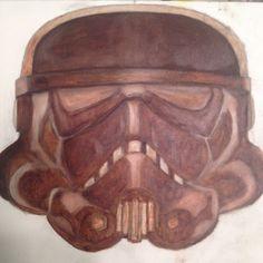 Storm Trooper under painting