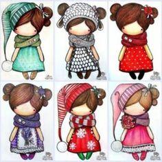 Doll clothes & doll clothes patterns &doll patterns by AlinaDollsDesigns Doll Clothes Patterns, Doll Patterns, Cute Images, Cute Pictures, Kawaii, Cute Illustration, Digital Stamps, Cute Drawings, Cute Art