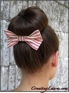 How to make a hair bow with almost no sewing from Creating Laura