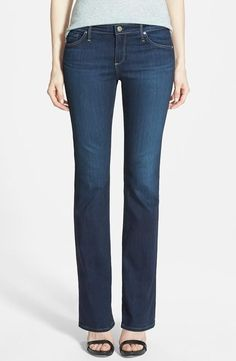 'The Angelina' Bootcut Jeans (Midnight Swim) (Petite). In Stock, Price: $102.48