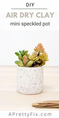 Diy Air Dry Clay, Diy Clay, Air Drying Clay, Air Dry Clay Crafts, Clay Bowl, Clay Vase, How To Make Clay, Pinch Pots, Diy Schmuck