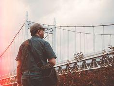 man standing near bridge Get A Boyfriend, Man Standing, Brooklyn Bridge, Hd Photos, Community, People, Image, People Illustration, Folk