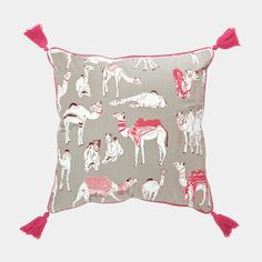 Camel Cushion Cover 45x45 Red, 55€,  by Safomasi !!