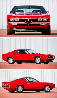 1971 Alfa Romeo Montreal Maintenance/restoration of old/vintage vehicles: the… Maserati, Lamborghini, Ferrari, Alfa Romeo Gta, Alfa Romeo Spider, Classic Sports Cars, Classic Cars, Ford Gt, Alfa Alfa