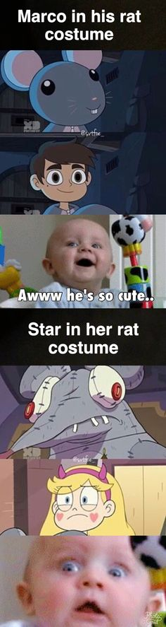 Stars rat costume was terrifying.... Star vs the Forces of Evil Credit @livieblue