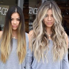 Mind Blowing Hair Transformation Before & After Photos - Gallery OMG-Worthy Transformations - Blonde Hair With Highlights, Brown Blonde Hair, Brunette Hair, Dark To Blonde, Brown To Blonde Hair Before And After, Going Blonde From Brunette, Blonde Honey, Long Brunette, Brunette Color