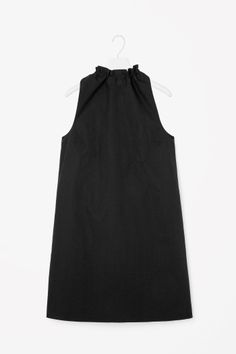 COS image 2 of Dress with tie collar in Black