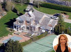 """Katie Couric from Celebrity Homes in the Hamptons  The Katiehost beats the heat in a $6.3 million """"cottage"""" she purchased in 2011."""