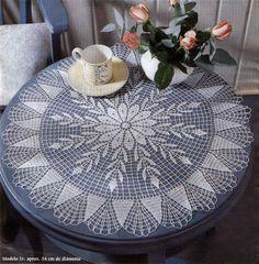 Centro tondo floreale | Antica arte dell'uncinetto e nuove proposte per ogni occasione.