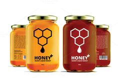 Honey Labels by Mihaly on @creativemarket ///// Apiary Supplies - Beekeeping Supplies - Honey Supplies found at Apiary Supply | www.apiarysupply.com