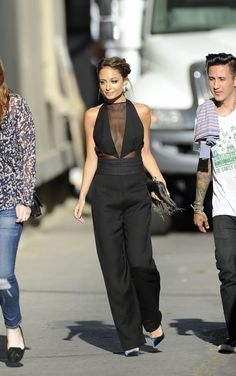Nicole Richie heads to Jimmy Kimmel Live. Love!