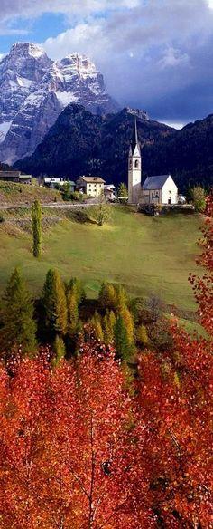 At the rolling hills of Selva Di Cadore, in the province of Belluno in the Italian region of Veneto.
