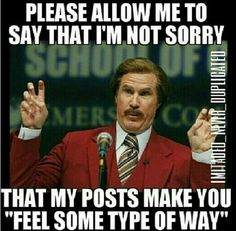 For the dumb ass people that have a problem with the things I post. FUCK YOU! If you don't like it, unfollow me. Plain & simple
