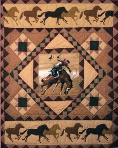 Cowboy Quilted Throw Boys Will Love This Horse and Cowboy 50x60