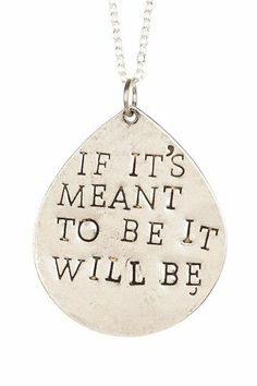 Meant To Be Necklace.