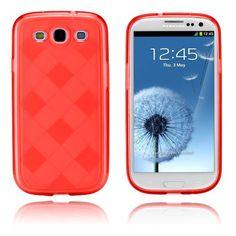 Grid (Punainen) Samsung Galaxy S3 Suojakotelo