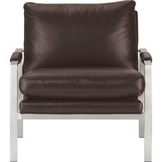 Milo Classic Leather Lounge Chair in Chairs | Crate and Barrel