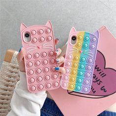 Kawaii Phone Case, Girly Phone Cases, Iphone Cases, Barbie Dolls Diy, Diy Doll, Pop It Toy, Kids Notes, Cool Fidget Toys, Alphabet