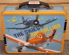 PLANES Disney Tin Lunch Box - New - School -carrying case- Skipper Dusty
