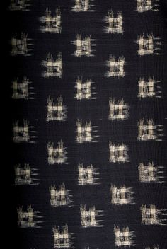 Ikat fabric handdyed with vegetable dyes and by handloombatik