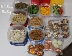VERY impressive meal prep, for when i get bored of the same foods. One Week Healthy Meal Prep & Dinner Menu | Britts Blurbs