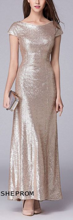 Shop Sheath V Back Sequin Long Dress online. SheProm offers formal, party, casual & more style dresses to fit your special occasions. Gold Sparkly Dress, Long Sequin Dress, Sparkly Dresses, Long Dresses, Formal Dresses, Dress Long, Cheap Party Dresses, Unique Fashion, Mother Of The Bride