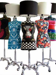 Franko & Co. diseña lámparas-maniquís con un estilo clásico, pero al mismo tiempo, fusiona colores y texturas del arte pop ...