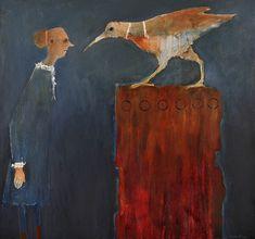 Mel McCuddin, Comparing Beaks 2015, oil