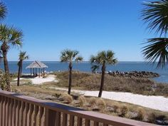 Front Balcony View Towards Gazebo - A Great Place to Watch the Dolphins! Fripp Island
