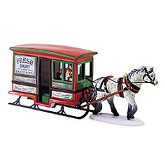 "Department 56: Products - ""Dairy Delivery Sleigh"" - View Accessories  Wish list"
