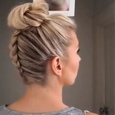 mittellanges haar Progressiva de Chuveiro: Shampoo que Alisa Cabelo em 5 Minutos! Chignon Simple, Hair Upstyles, Bun Hairstyles, Hairstyles Videos, School Hairstyles, Vintage Hairstyles, Wedding Hairstyles, Braids For Long Hair, Hair Videos