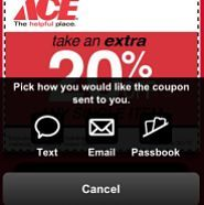 In a trial run, Ace Hardware found that geolocated mobile coupons generated a 49% redemption rate and much larger shopping baskets for users who opted in. The trial traces coupon usage from discovery to redemption.