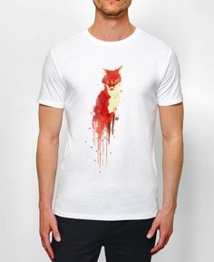 Tee-shirt Homme Fox Blanc by Budi Satria