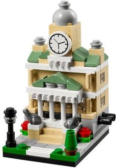 LEGO Set 40183-1 Bricktober Town Hall - building instructions and parts list. Theme: Bricktober; Year: 2014; Parts: 186; Tags: modular buildings