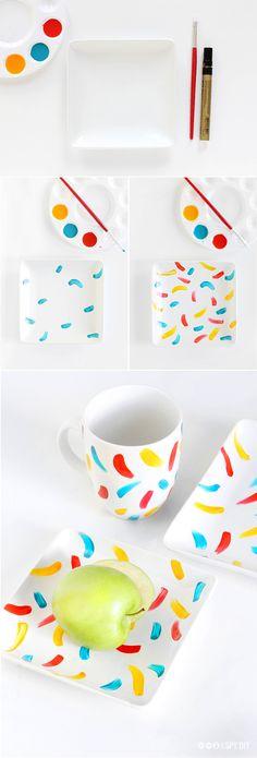 Proiect handmade special pentru. diy painted plates