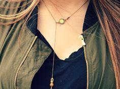 Sea glass locket necklace with a simple shirt & jacket 🍁  #ootd #fallfashion #ootdgoals #fall #locket #onethinglife #seaglass #vintage