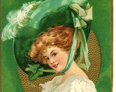 Printable St Patrick's Day postcard. So pretty! Grab the free image at The Graphics Fairy!