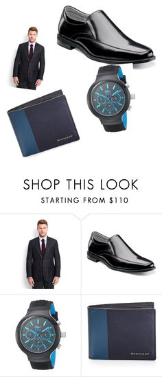 """""""😁"""" by yourpalleslie ❤ liked on Polyvore featuring Lands' End, Florsheim, Lacoste, Burberry, men's fashion and menswear"""