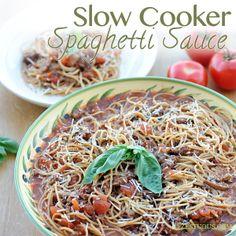 ... | Spaghetti, Slow cooker spaghetti sauce and Spaghetti and meatballs