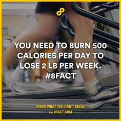 You need to burn 500 calories per day to lose 2 lb per week.