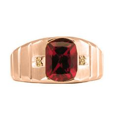 Men's Rose Gold Diamond Antique Cushion Cut Ruby Ring #Christmas 2016 #Jewelry #Personalized #Unique #Simple #Gifts @ Gemologica.com #Xmas #Gift guide finder ideas for #Him #Her #Kids #Jewellery #couponcode #deals #sale Stocking Stuffer #Ideas. #Presents for girlfriends, boyfriends, children, men, women from the #Gemologica Jewelry Store. #Earrings #Rings #Necklaces #Bracelets #Gold #Silver #Fashion #Style