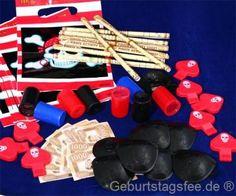Piratenparty Zubehör-Set 48-teilig, Piraten-karten, Piratenpfeifen... €7,99