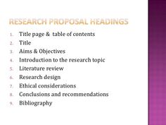 examples of a research proposal paper