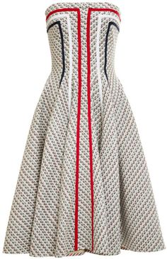 Thom Browne Paneled Tweed Jacquard Dress(this is absolutely, gorgeous! African Attire, African Wear, African Fashion Dresses, African Dress, Xhosa Attire, Fashion Outfits, Fashion Trends, Shweshwe Dresses, Kente Styles