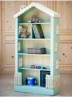 DOLLHOUSE Large BOOKCASE 6 Ft High Solid Wood 30 Paints Stains Cottage Style NEW in Bookcases | eBay