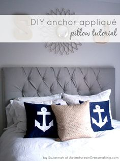 DIY Nautical Style Pillows | TodaysCreativeBlog.net