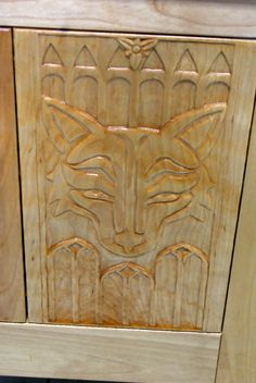 Close-up of Carved Panel Chest - Lady Morag Taylor - Kingdom A&S 2017